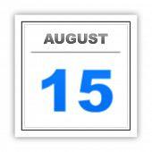 image of august calendar  - August 15 - JPG