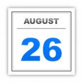 foto of august calendar  - August 26 - JPG