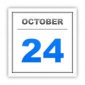 stock photo of october  - October 24 - JPG