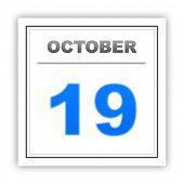 stock photo of october  - October 19 - JPG