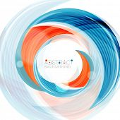 stock photo of slogan  - Swirl line abstract background - JPG