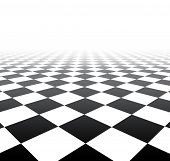 stock photo of grids  - Perspective black and white grid - JPG