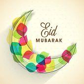 stock photo of eid mubarak  - Muslim community festival - JPG