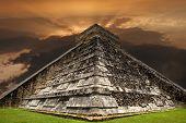 picture of mayan  - Ancient Mayan pyramid - JPG