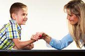foto of wrestling  - Family children and motherhood concept - JPG