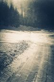 picture of hazardous  - Icy Road Conditions - JPG