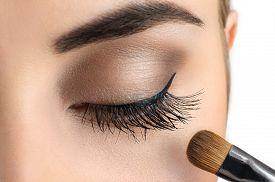 stock photo of face-powder  - Makeup close - JPG