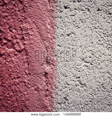 Pink Paint On Concrete Surface. Frame For Text.