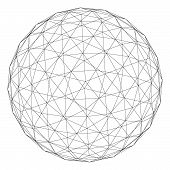 picture of geosphere  - planet symbol. 