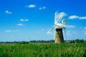 Windmill Landscape. Norfolk, England.