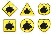 Hucha icono ilustración Original diseños amarillo