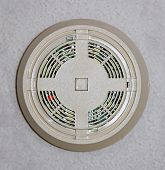 foto of stippling  - Smoke detector mounted on a stippled ceiling - JPG