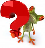 Frog and question