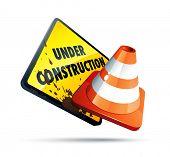 Onder constructie teken