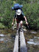 Backpacker Stream Crossing