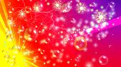 An abstract full colours background full of bubbles, lightning, sparkles and amazing effects