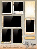 Collection of Vintage Photo Frames traded from original aged photography