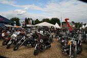 FAAKER SEE, Österreich - SEPTEMBER 11: Custom Motorräder sind auf der European Bike Week am September gezeigt