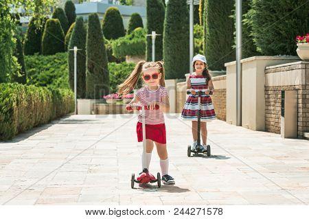 Girlfriends At Sunny Day Preschooler
