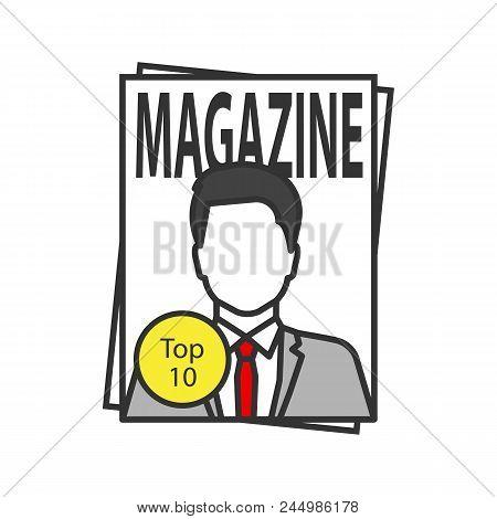 Magazine Color Icon Tabloid Periodical
