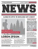 Daily News Tabloid Template. Typography Design With Columns, Daily News Page Layout, Info Press Illu poster