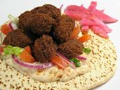Warm Falafels And Pita Bread