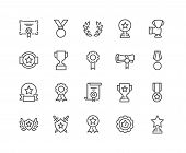 Simple Set Of Awards Related Vector Line Icons. Editable Stroke. 48x48 Pixel Perfect. poster