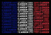 France National Flag Collage Designed Of Career Text Design Elements On A Black Background. Vector C poster
