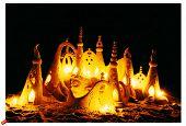 Sand castle night byron bay