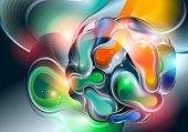 Abstract Background With Ball From Shining Forms. Vector Illustration.