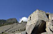 Постер, плакат: Древний храм солнца инков на Мачу Пикчу