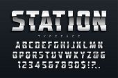 Station Futuristic Display Typeface Design, Alphabet, Sport Script, Font, Typography, Letters And Nu poster