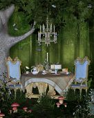 foto of fairy-mushroom  - A Wonderland tea for two in the magical forest of Wonderland - JPG