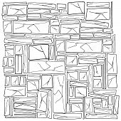 Rough Stonework. Background Of Old Stone Wall. Masonry. Vector Illustration Of A Stone Wall, Wall Of poster