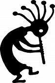 dancing kokopelli fertility symbol vector