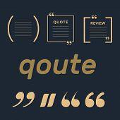 Quote Box Frames. Empty Quote Bubble. Color Quote Bubble. poster