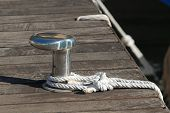Chrome Capstan With White Rope