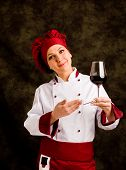 Chef Somelier With Wine