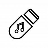 Music Storage, Outlined Symbol Of Multimedia Storage. Music Storage Icon. Music Storage Icon. Music  poster