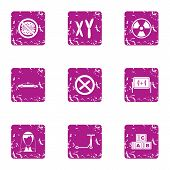 Change Life Icons Set. Grunge Set Of 9 Change Life Vector Icons For Web Isolated On White Background poster