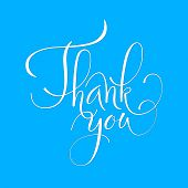 Lettering Thank You, Modern Calligraphy. Thank You Calligraphy. poster