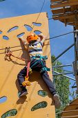 Safe Climbing Extreme Sport With And Carabiner. Safety Equipment. Recreation, Extreme Sports, Overco poster