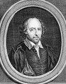 William Shakespeare (1564-1616). Engraved by G.Duchange and published in Works of Shakespeare, Unite