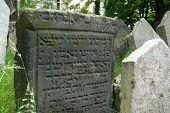 Prague Jewish Cemetary Gravestone