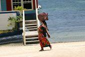 Walking The Beach In Belize