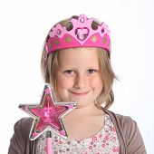 Young Girl In Fairy Princess Fancy Dress Costume