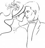 Vector Illustration of a Romantic Couple
