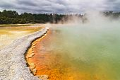 Champagne Pool, Geothermal Spring In Waiotapu, New Zealand. poster