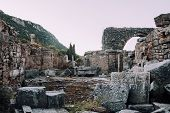 Antique City Of Ephesus.ruins Of An Ancient City In Turkey.selcuk, Kusadasi, Turkey.archaeological S poster