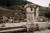 Antique City Of Ephesus.ruins Of Ancient City In Turkey.selcuk, Kusadasi.archaeological Site,expedit poster